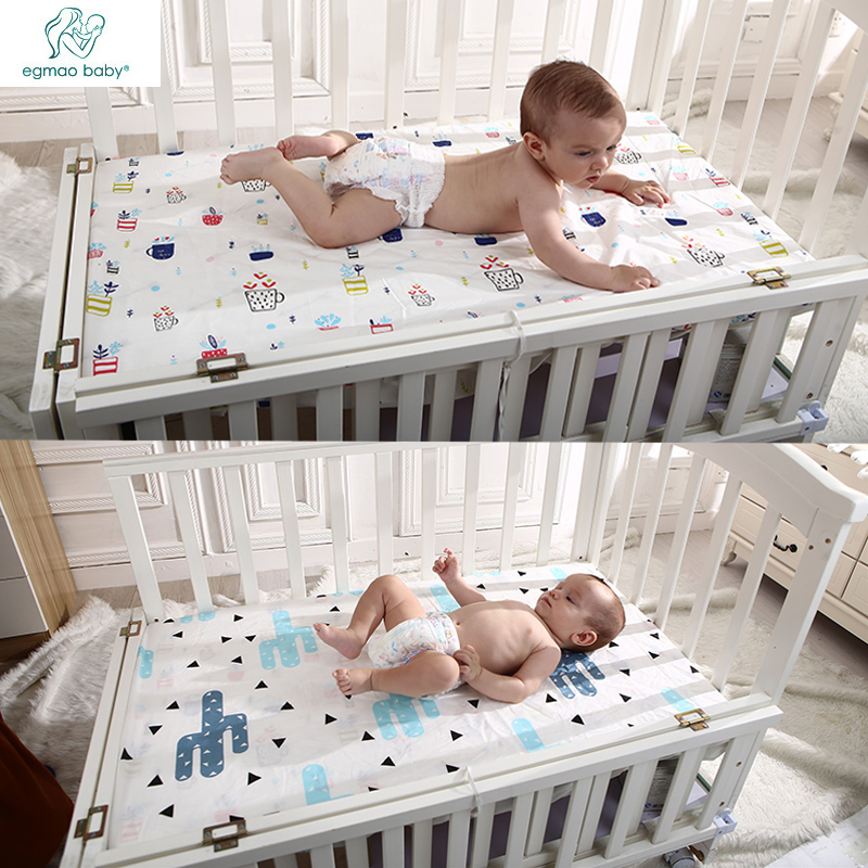 Baby Bedsheets Size 130 * 70cm 100% Cotton For All Cribs Baby Bedding Set Woven Fitted For Babies Newborn Soft Crib Sheets