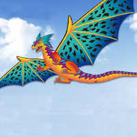 190*330 cm gran cometa de dragón estéreo niños creativos cometas de dinosaurio 400 cm cola fácil de volar grande al aire libre cometa deportiva niños regalo adulto