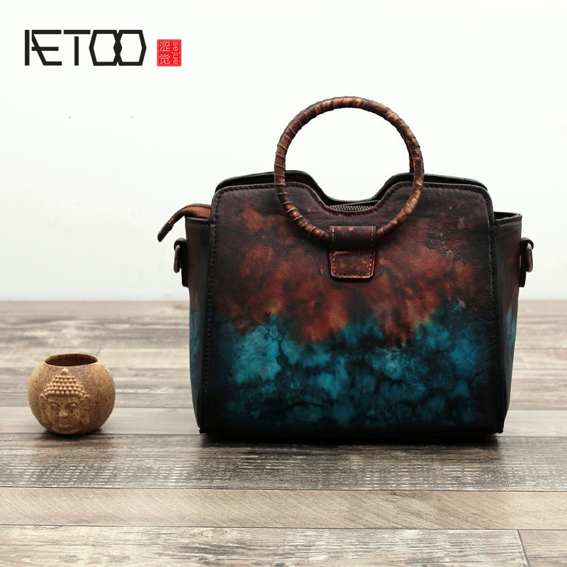 AETOO The new female bag of fringes blooming bag bag ring package retro iron ring portable shoulder Messenger bag