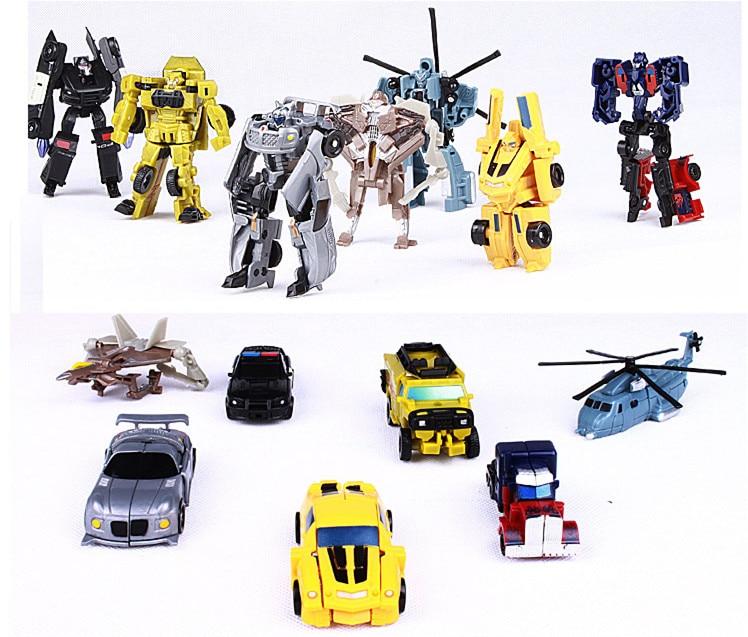 Best Sale 8cm 7PCS/Set Transformation Robot Cars Toys