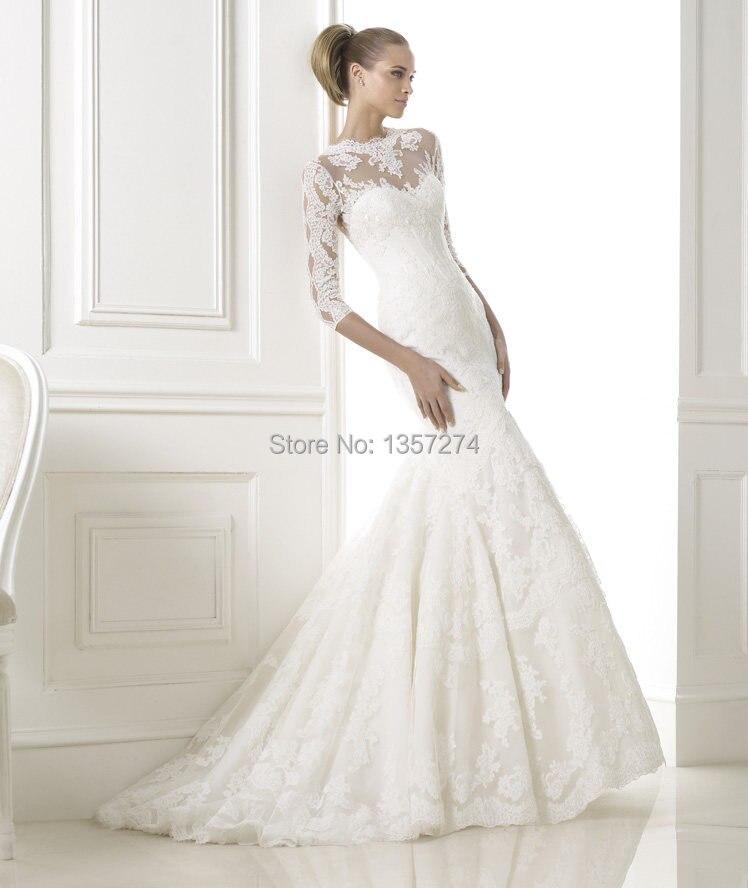 Trumpet Wedding Dress See Through