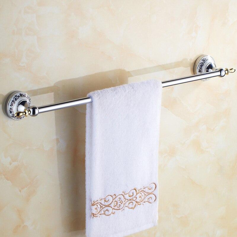 ФОТО Art copper single towel bars rack chrome, European antique bathroom towel bars, Brass toilet wall hanging towel rack shelf