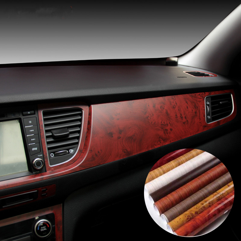 40 100cm car styling stickers self adhesive vinyl furniture wood grain vinyl car wrap internal. Black Bedroom Furniture Sets. Home Design Ideas
