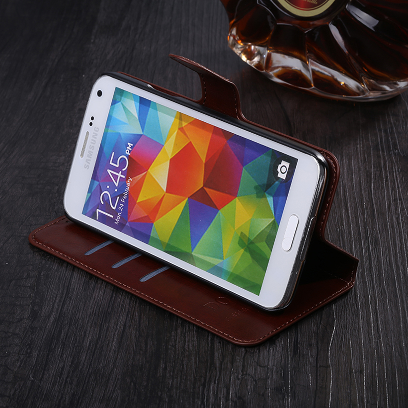 Slim Luxury PU Business retro Leather Wallet Case Folio Cover With Stand Function For LG L Fino D295 LG L Fino Dual D290N