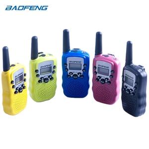 Image 4 - 2Pcs Baofeng Mini Walkie Talkie Kids Radio Portable 2W Two Way Radio Handheld Children Transceiver Toys Radio Gift T3 BF T3