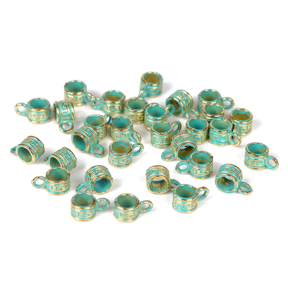 Jewelry Supplies Hand Forged Green Patina metal shell shape Charms