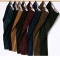 Fleece Lined Vintage Hombre Invierno Cálido Pantalones de Pana Pantalones de Los Hombres terciopelo Polar Térmica Slim Fit Ejército Marrón Verde Azul Marino Negro rojo