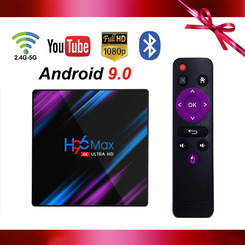 New Android 9.0 H96 max Smart TV BOX Rockchip RK3318 Quad Core 2g/4g RAM 16g/32g/64g RAM 2.4G/5G wifi 2.65Hz BT4.0 Set Top Box|Set-top Boxes| |  -