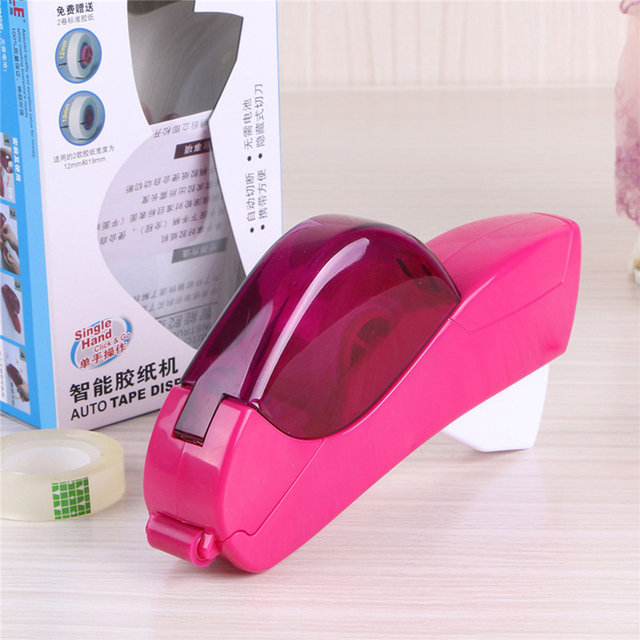12/19mm One Press Auto Tape Dispenser Hand-held Intelligent Automatic Tape Dispenser Cutter Adhesive Holder Packaging Cutter