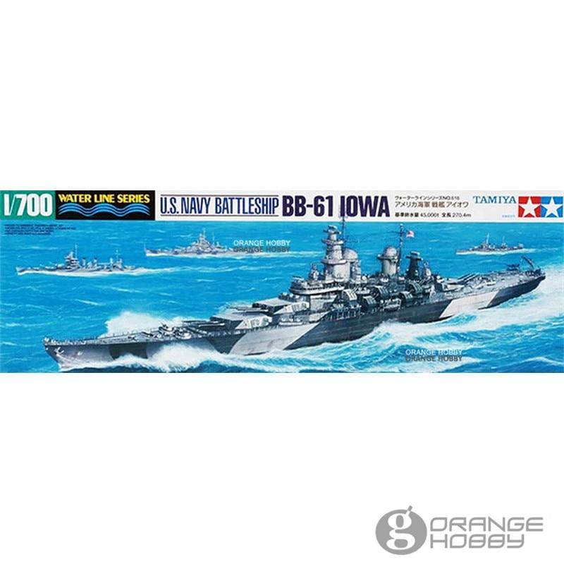 OHS Tamiya 31616 1/700 U.S. Navy BattleShip BB61 IOWA Assembly Scale Military Ship Model Building Kits oh with tamiya artwox 78030 battleship wooden deck japanese 2013 aw10096 edition