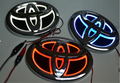 New 5D Car Badge Rear Brake Lamp Blue Light White Bulb Red lighting Toyota For NEW VIOS/HIGHLANDER/COROLLA/YARIS/CAMRYS/HIACE