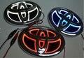 Nova 5D Emblema Do Carro Do Freio Traseiro Lâmpada Luz Azul Branco Lâmpada de iluminação Vermelha Toyota Para NOVOS VIOS/HIGHLANDER/COROLLA/YARIS/CAMRY/HIACE