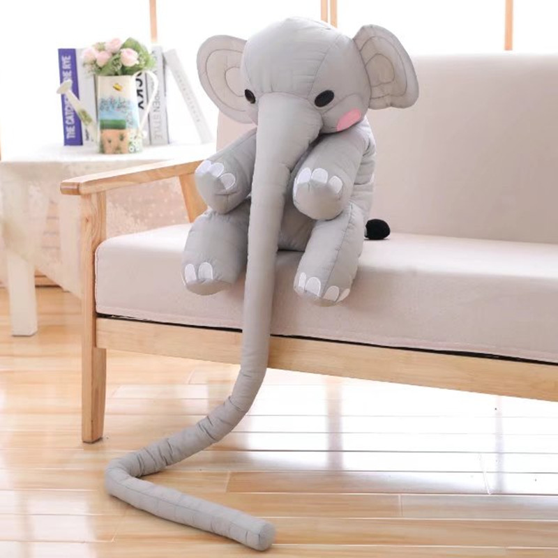1pc 160cm Long Nose Elephant Plush Toys Stuffed Soft Cute Animal Doll for Kids Baby Appease Toys Christmas Gift for Girls plush toya elephant plush lion stuffed and soft animal toys