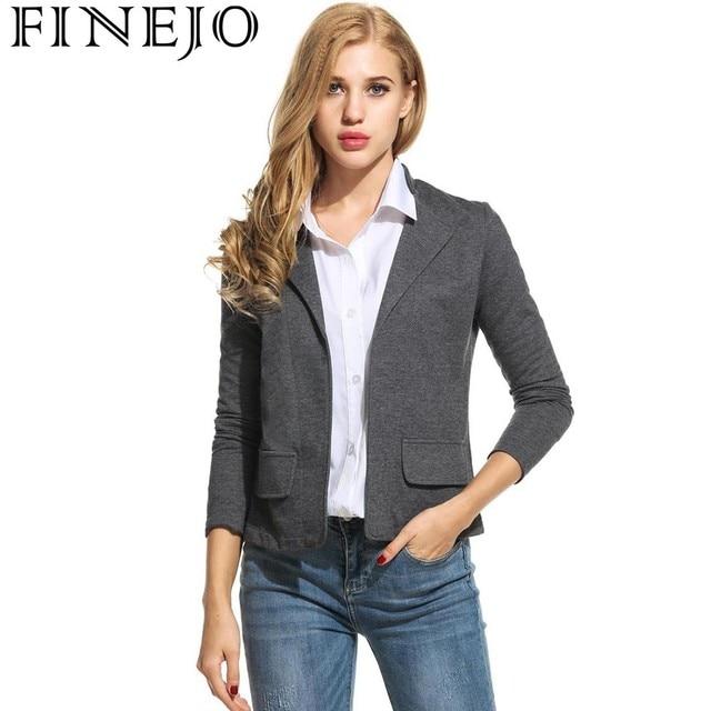 4d1ce047c3ec FINEJO Women Striped Blazer Turn Down Collar Autumn Open Stitch Long Sleeve  Ladies Suit Slim Casual Fashion Feminino Jackets