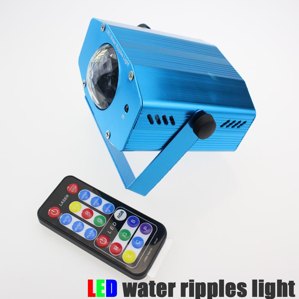 portable mini water wave ripples laser stage lighting lights RGB Adjustment DJ Party Home Wedding Club Projector with remote rg mini 3 lens 24 patterns led laser projector stage lighting effect 3w blue for dj disco party club laser
