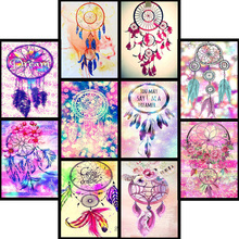 5D Diamond Painting Wind chime Cross Stitch DIY Diamond Embroidery flower Diamond Mosaic Home Decor love
