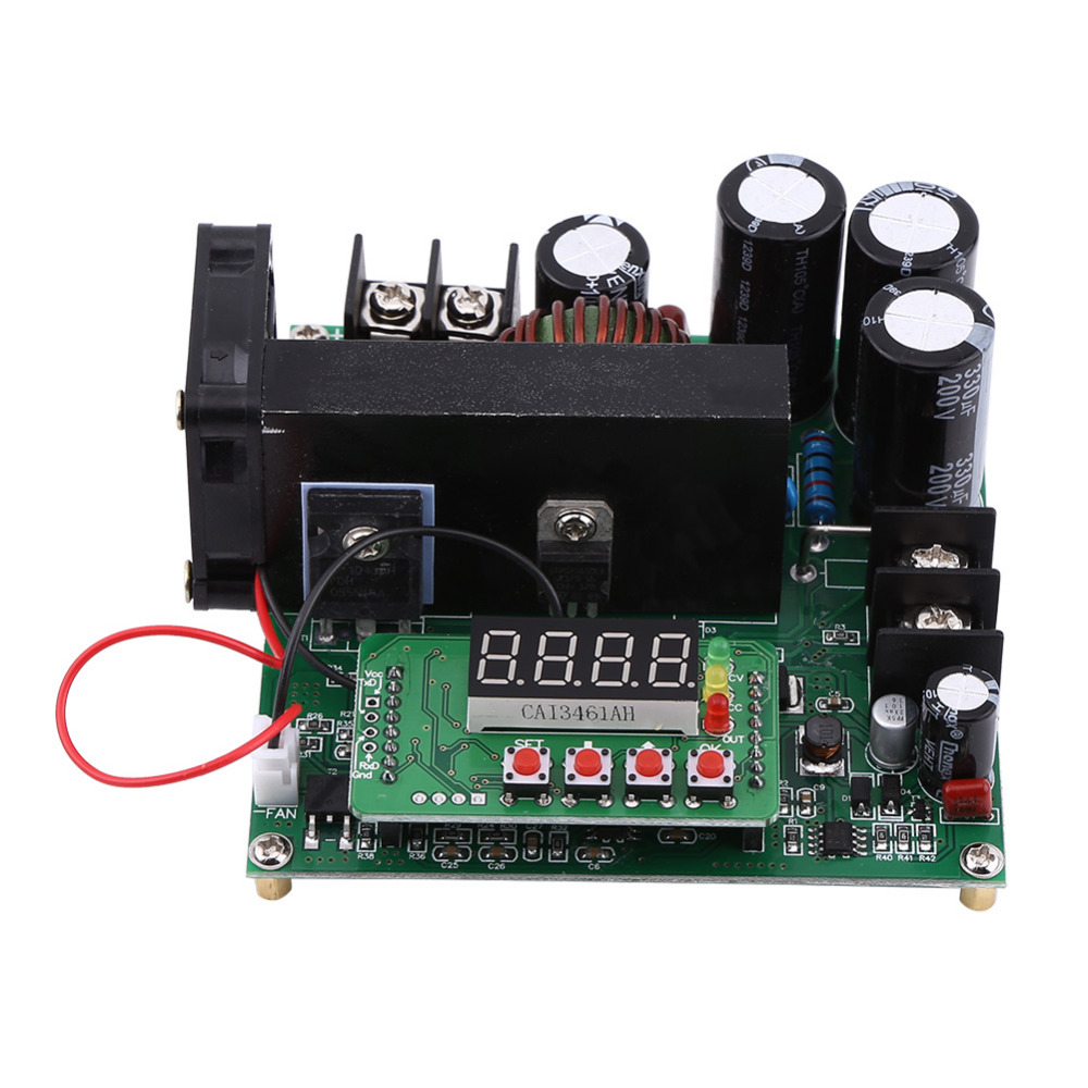 DIY Voltage Step Up Converter Module 900W DC High Precise Control Boost Converter Regulator with High Speed Micro Controller