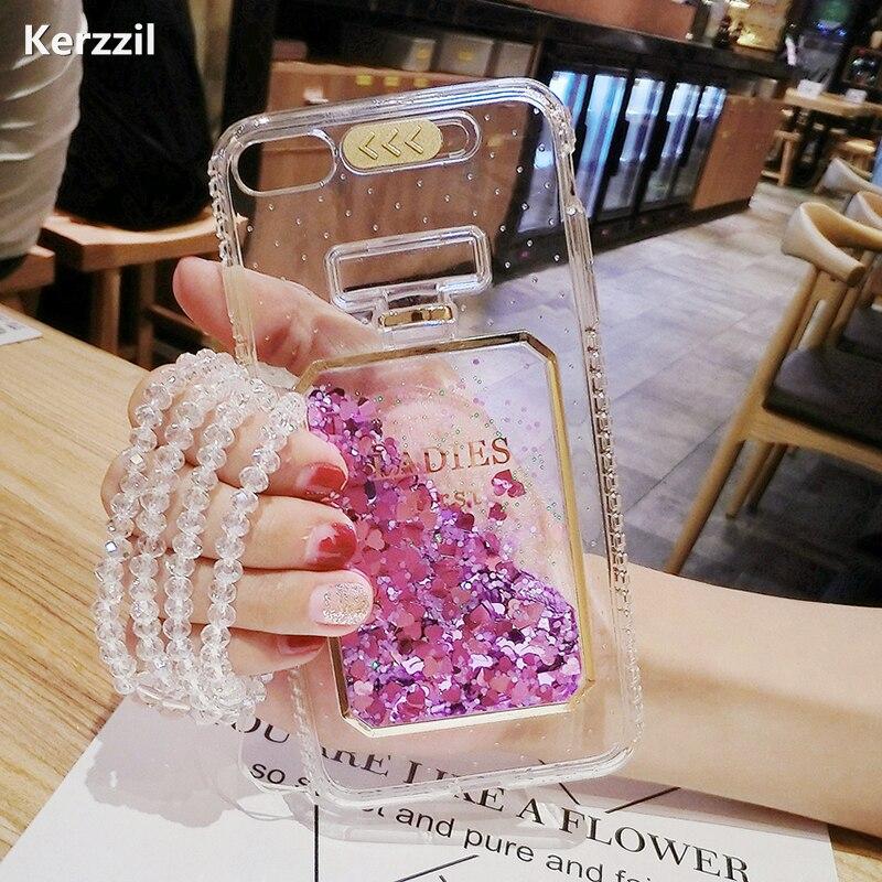 Роскошные Жидкий блеск звезды флакон духов телефона чехол для iPhone 7 6 6 s flash сердца мягкий чехол для iPhone 7 6 6 S 7 Plus Капа