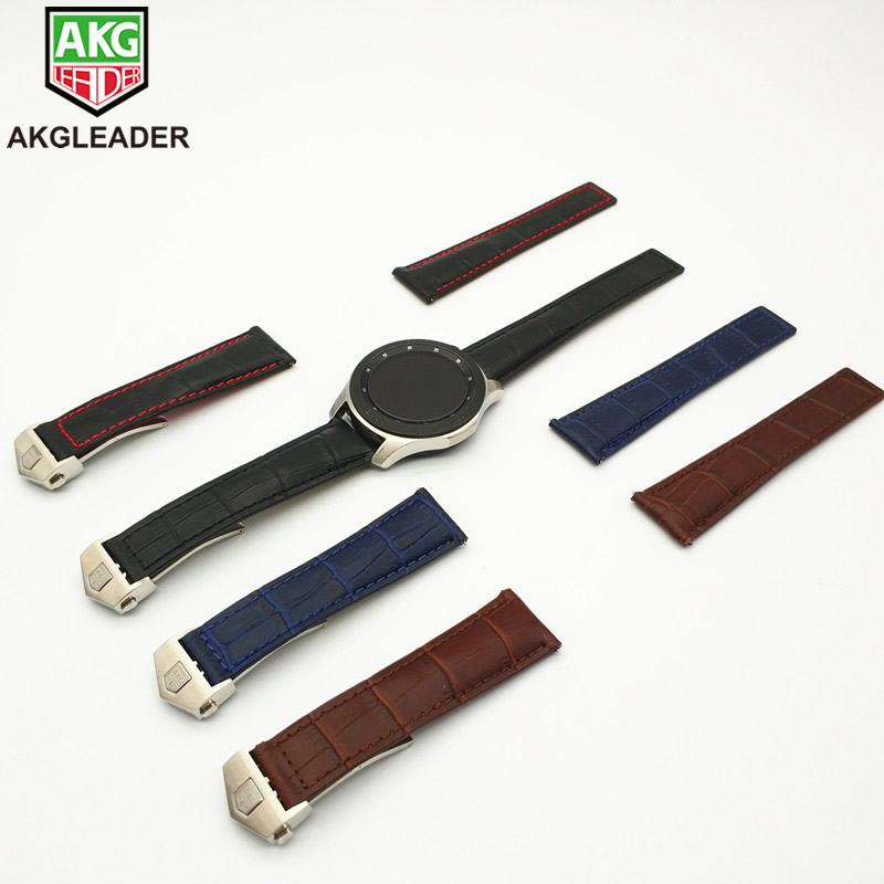 AKGLEADER Newest Genuine Leather Watch Strap Band For Samsung Galaxy Watch 46mm 42mm Gear S3 Classic Frontier Huami Amazfit 22mmAKGLEADER Newest Genuine Leather Watch Strap Band For Samsung Galaxy Watch 46mm 42mm Gear S3 Classic Frontier Huami Amazfit 22mm