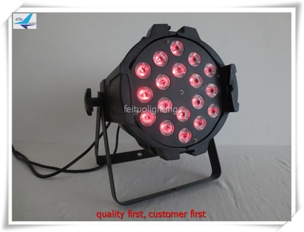 Professional sound equipment led flat rgbw 18x10w led par rgbw 4in1 indoor led par light 64