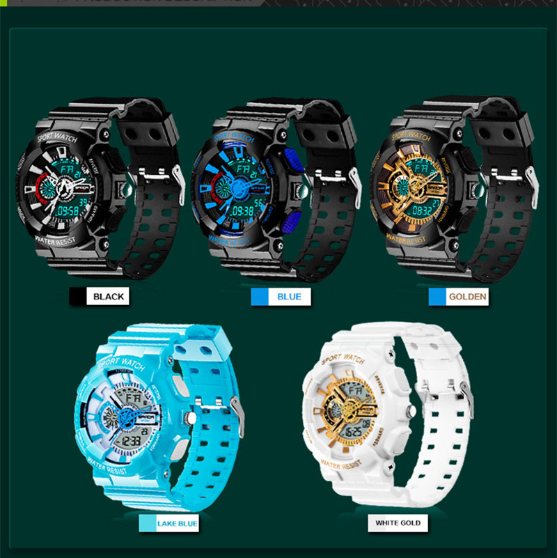 Image 5 - 2016 New Arrival SANDAL G style Quartz Digital Dual Time Watches Men Fashion Man Sports Watches Luxury Brand Military Army Reloj-in Quartz Watches from Watches on AliExpress
