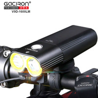 GACIRON V9D Cycling Front Lights Bike CREE L2 LED USB Rechargeable Bicycle Lights With W05 Rear
