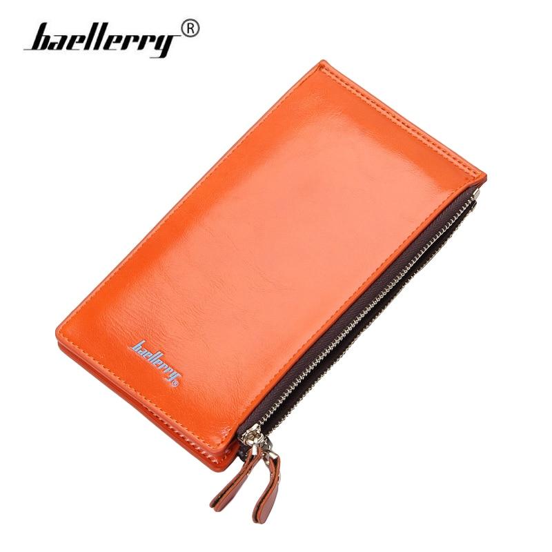 Baellerry double zipper women business card holder wallet for Womens business card case