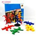 Мультфильм Клоун Укладка Игрушки Игры Дети Баланс Игрушки Накапливаться Настольной Игры Монтессори Обучения Детей Развивающие Игрушки
