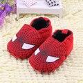2015 outono/inverno de algodão do bebê prewalker shoes spider-man impressão suave sole Slip-on pano de algodão Jungen Schuhe meisjes schoenen