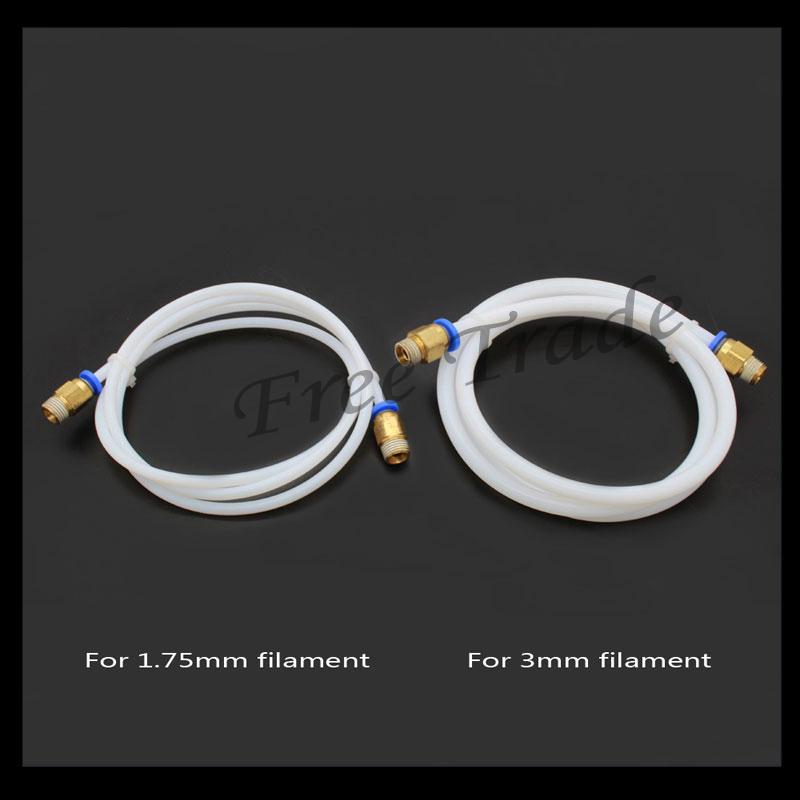 1M 3D Printer PTFE Tube for Long-distance 3D Printer J-head Hotend for 1.75mm/3.0mm Bowden Extruder Free shipping j head bowden heatsink for 1 75mm filament short distance j head 3d printer v5 free shipping