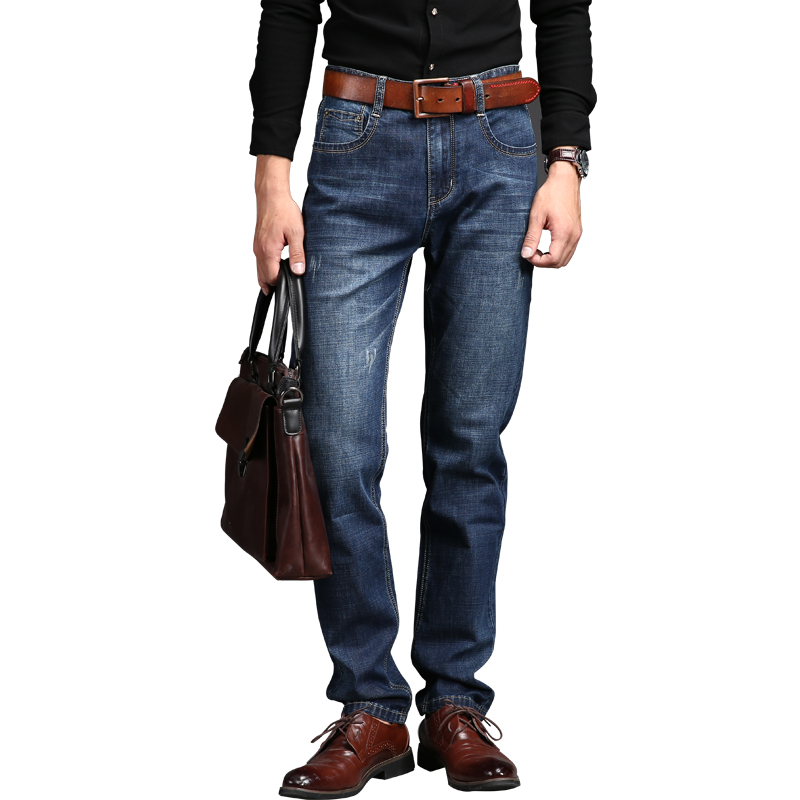 2017 DEE MOONLY Middle aged Men s big size 28 42 casual brand spring straight denim
