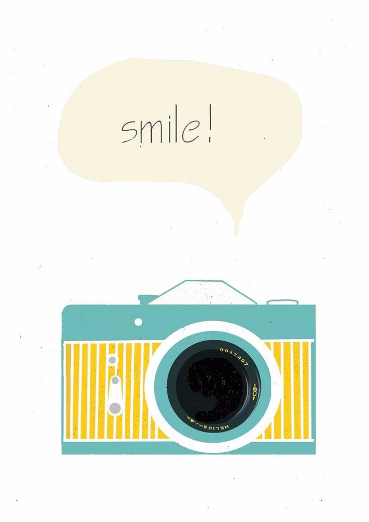 US $4.29 12% OFF|N1530 Camera Smile Retro Vintage Hipster Wall Sticker Silk  Fabric Poster Art Indoor Decor Bright-in Painting & Calligraphy from Home  ...