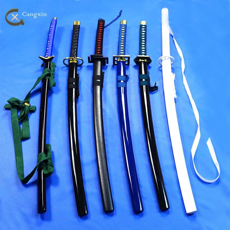 Bleah Kurosaki Ichigo Urahara Kisuke Kuchiki Rukia  Zanpakutou Japanese Anime Props Cosplay Sword Blade Weapon Steel Sword