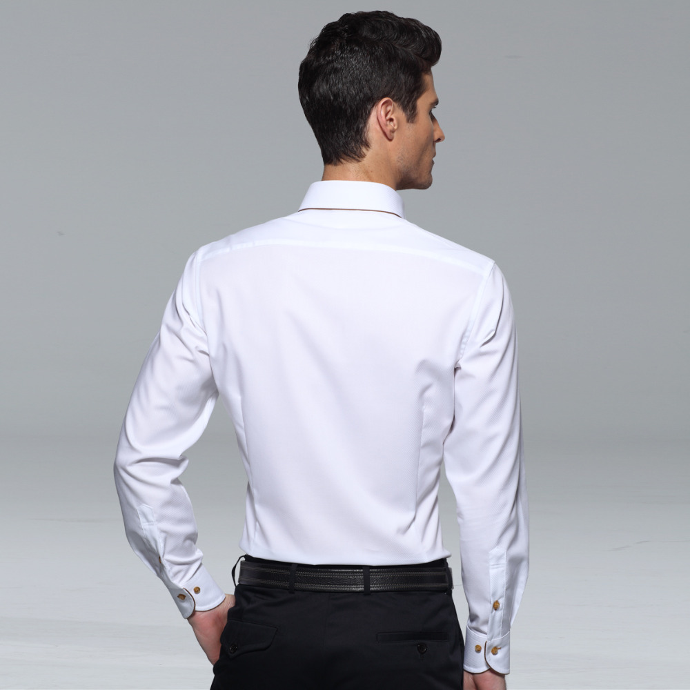 Image 4 - Deepocean Tuxedo Shirt Styles 2019 Camisa Social Masculina 100%  Cotton Brand Shirt White chemise homme French slim Fit Shirts-in Tuxedo Shirts from Men's Clothing
