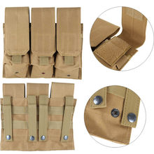 Outdoor Airsoft Molle Tactical Triple AR15 M4 5.56mm Mag Magazine Pouch Pistool Pistool Schieten Vest Tool Dump Drop Bag(China)