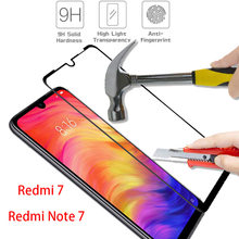 ALLOPUT Premium Tempered Glass for Xiaomi Redmi Note 7 Redmi 7 glass 9H full cover Black Glass Redmi Note 7 Pro Screen Protector(China)