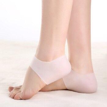 2pcs=1 pair Silicone Moisturizing Gel Heel Socks Inserts Cracked Foot Protector Feet Massager Shoe Cushion Inserts Shoes Inserts & Cushions