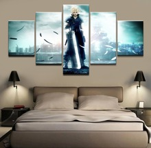 5 Pieces Game Final Fantasy Painting Modern Wall Decorative Draw Canvas Art HD Print Modular Poster For Boys Bedroom