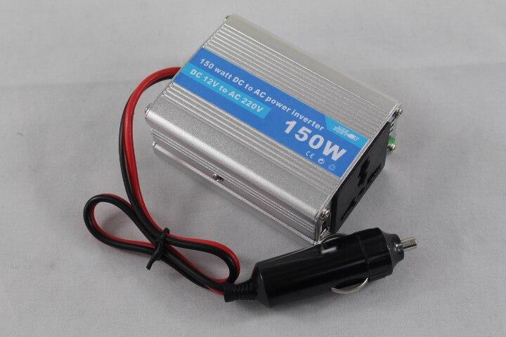 CE RoHS 24V DC 12V a AC 220V 240V 110V 120V inversor de corriente para coche 150W Salida de onda sinusoidal modificada con USB 5V