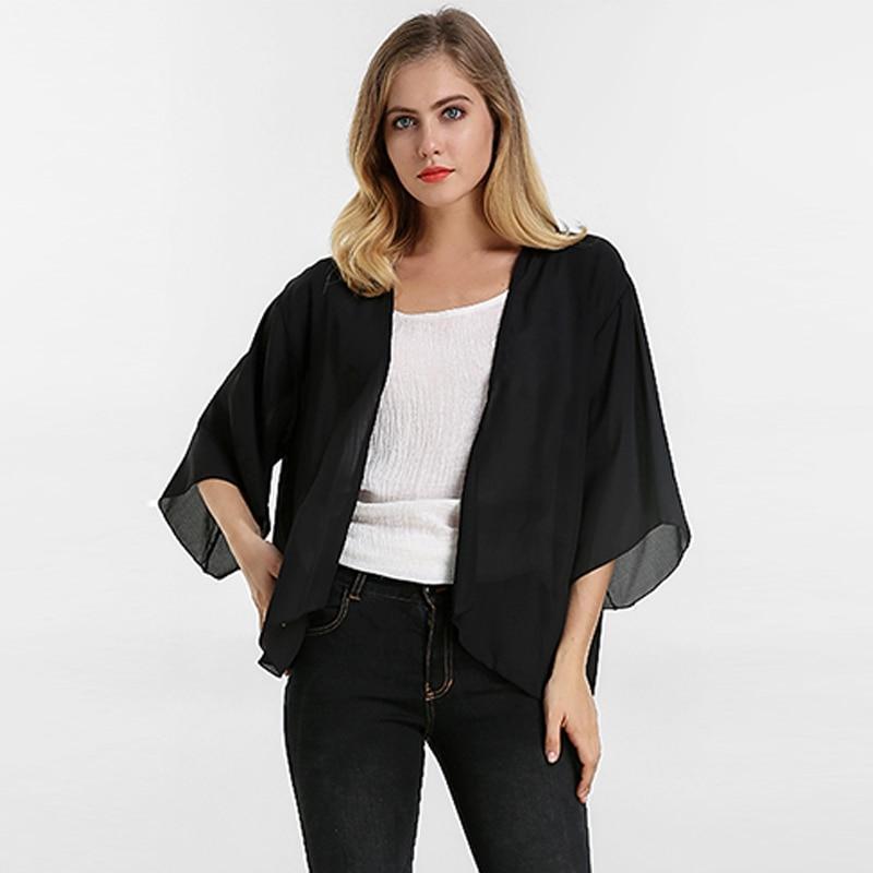 Beach Kimono Cardigan 2018 Summer ZANZEA Women Chiffon   Blouses     Shirts   Bohemian Cape Beachwear Casual Loose Blusas Tops Plus Size