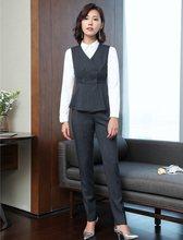 Alta calidad Pantalones mujer trajes de negocios Formal trajes de oficina trabajo  desgaste chaleco y chaleco señoras pantalones . 3e9b8b625081