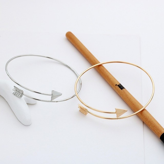 Punk simples seta manguito aberto ajustável pulseiras para as mulheres moda gótico pena pulseiras menino presente jóias cor do ouro