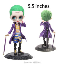 Q posket Harley Quinn Joker PVC Action Figures Qposket Suicide Squad Cartoon Anime Figurines Collectible Dolls Kids Toys