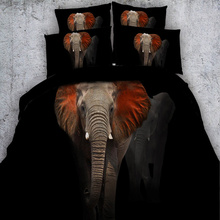 3d elephant duvet cover bedding set adults bed in a bag bedspread twin queen king size