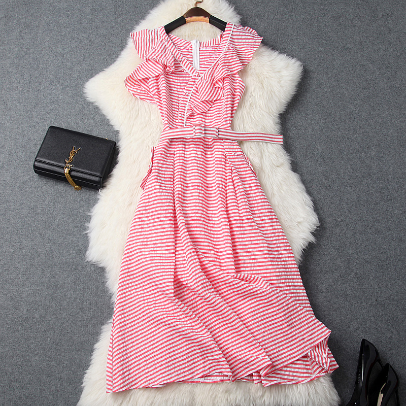 ZIPIPIYF Vintage Retro Women Dress cotton Sleeveless Polka Dot printing 2017 Summer Party Evening Vestido Elegant Ladies A Line appella 4374 1014