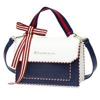 Women Leather Embroidery Handbags Girl Shoulder Bags Messenger Bag Female Totes Braccialini Style Handicraft Art Ribbon Envelope