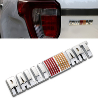 Car Styling 3D Aluminum RALLIART Car Sticker Emblem Badge Decal For Ralliart MITSUBISHI LANCER PAJERO OUTLANDER