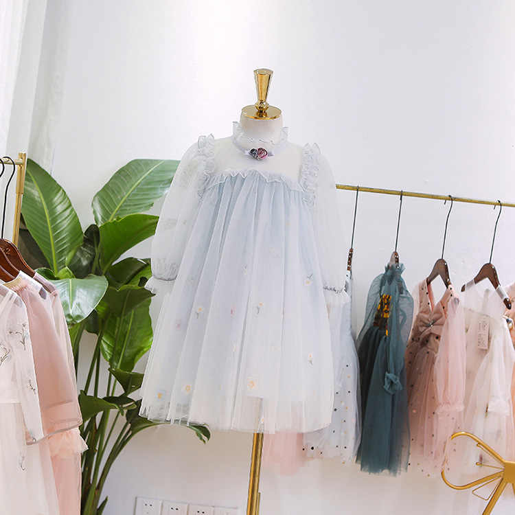 c5356eaa721c 5305 Puff Sleeve Embroidery Princess Baby Girl Dress Spring Wedding Party Kids  Dresses For Girls Wholesale