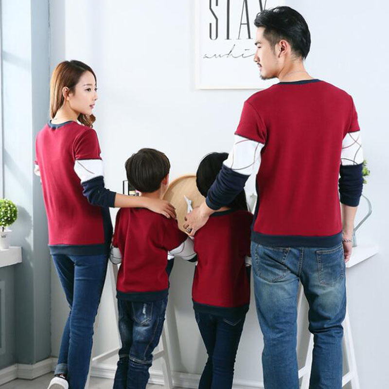 HTB127SAaNTpK1RjSZFMq6zG VXai - Plus Size Family Matching Outfits New Casual Autumn Mother Daughter Father Son Boy Girl Cotton Clothes Set Family Clothing