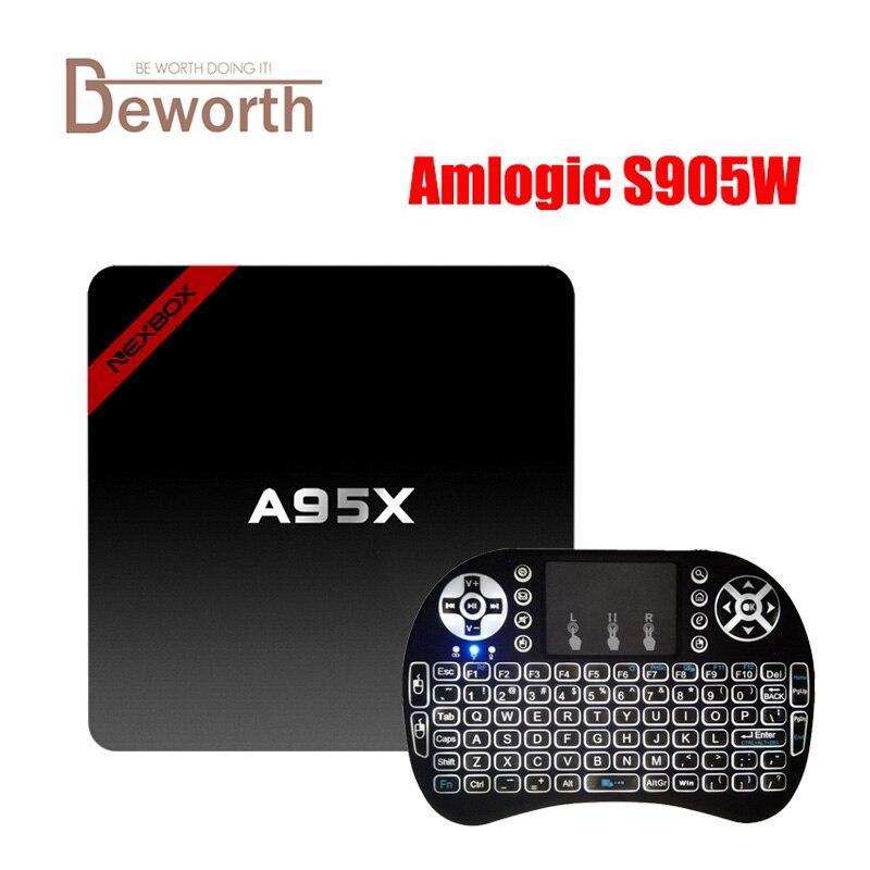 NEXBOX A95X Android 7.1 TV Box Amlogic S905W 2G 16G Quad Core 4K KODI 2.4GHZ Wifi Smart TV Box Media Player VS X96 mini newest amlogic s905x tv box nexbox a95x nexbox android 6 0 box 2g 16g quad core 2 4g wifi smart tv box android tv box